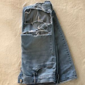 Pacsun, size 8, light, ripped jeans